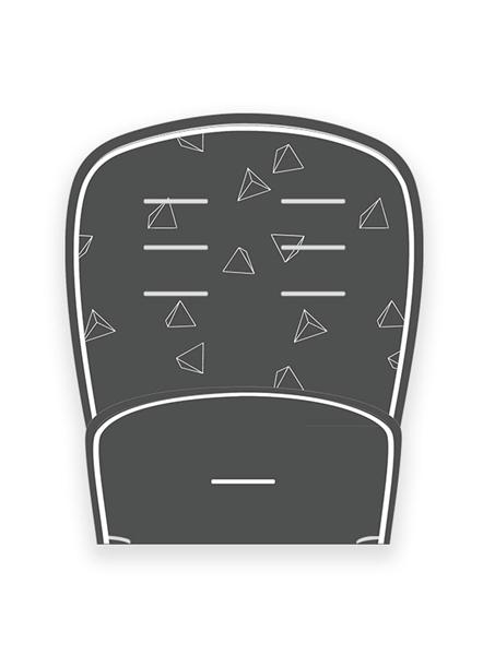 Minene Κάλυμμα Πικέ 3D Dark Grey