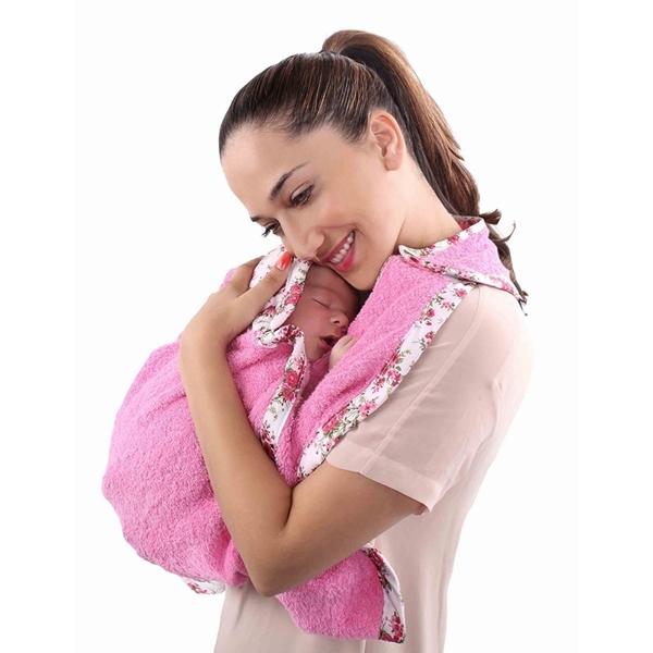 Minene Πετσέτα αγκαλιάς για Νεογέννητο, Ροζ