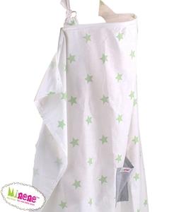 Minene Κάλυμμα Θηλασμού Πράσινα Αστέρια
