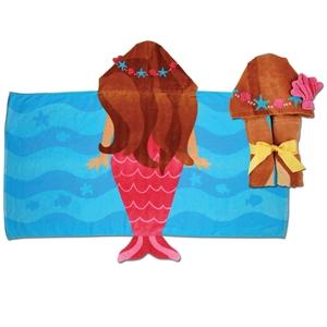Παιδική πετσέτα με κουκούλα, Γοργόνα