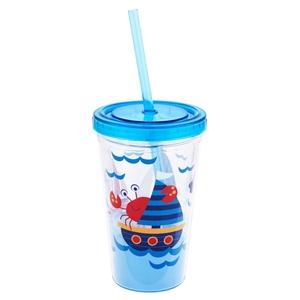 Stephen Joseph Ποτήρι Με Καλαμάκι Tumbler, Nautical