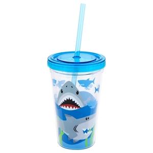 Stephen Joseph Ποτήρι Με Καλαμάκι Tumbler, Shark
