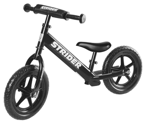 Strider Παιδικό Ποδήλατο Ισορροπίας, Black