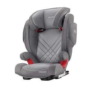 Recaro Παιδικό Κάθισμα Αυτοκινήτου Monza Nova 2 SeatFix, Aluminium Grey
