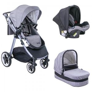 Εικόνα της Just Baby Βρεφικό Πολυκαρότσι 3 σε 1 Oasis, Grey