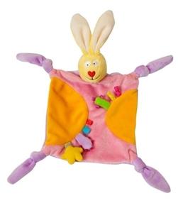 Taf Toys Πανάκι Αγκαλιάς Rabbit Blankie, Orange