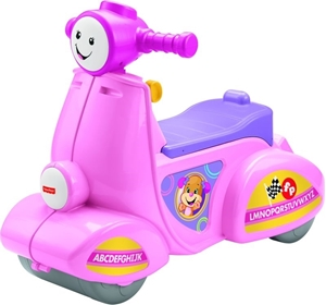 Fisher Price Laugh & Learn Εκπαιδευτικό Scooter Smart Stages-Ροζ #DPV94