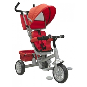 Just Baby Τρίκυκλο Ποδήλατο Spin Red με Περιστρεφόμενο Κάθισμα