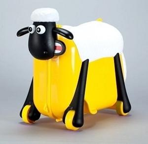 Shaun the Sheep βαλίτσα ταξιδιού, περπατούρα, παιχνιδόκουτο Yellow Ride