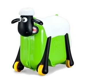 Shaun the Sheep βαλίτσα ταξιδιού, περπατούρα, παιχνιδόκουτο Green Ride
