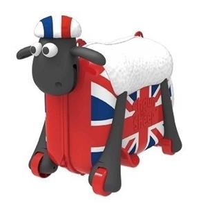 Shaun the Sheep βαλίτσα ταξιδιού, περπατούρα, παιχνιδόκουτο British Flag
