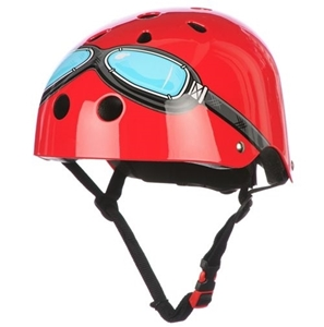 Kiddimoto Κράνος Red Goggles Medium
