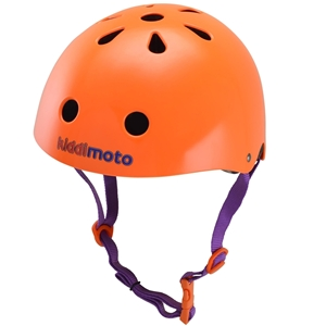 Kiddimoto Κράνος Matt Orange Small