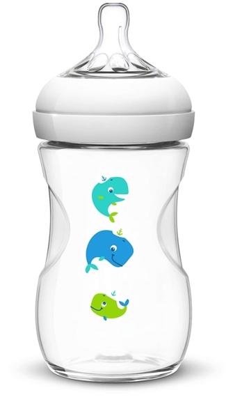 Philips Avent Natural Sea Πλαστικό Μπιμπερο 260ml - BPA Free, Μπλε, 1m+