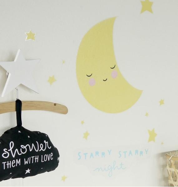 Αυτοκόλλητα Τοίχου Moon