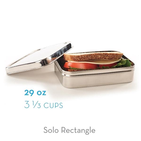 ECOlunchbox Solo Rectangle Ανοξείδωτο Φαγητοδοχείο