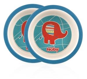 Nuby Μπωλ Φαγητού BamBoo Elephant 2 τεμ.