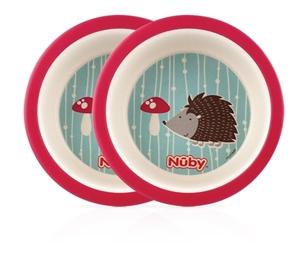 Nuby Μπωλ Φαγητού Hedgehog 2 τεμ.