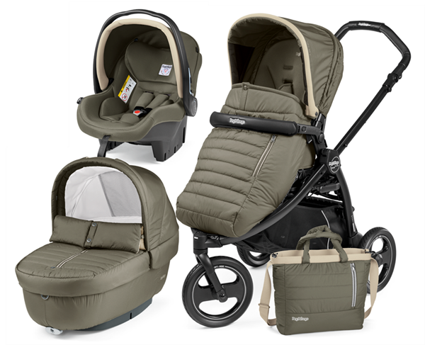 Picture of Peg Perego Παιδικό Καρότσι 3 σε 1 Book Scout Pop Up Completo, Breeze Kaki
