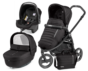 Peg Perego Παιδικό Καρότσι 3 Σε 1 Book Scout Pop Up Completo, Breeze Noir