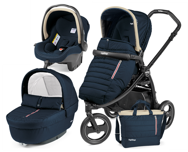 Picture of Peg Perego Παιδικό Καρότσι 3 σε 1 Book Scout Pop Up Completo, Breeze Blue