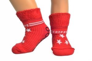 Εικόνα της Grippa - αντιολισθητικά καλτσάκια - Κόκκινα Αστέρια