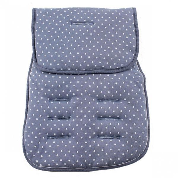 Picture of Minene Κάλυμμα καροτσιού με επωμίδες Jersey Mπλε Αστέρια