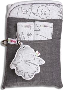 Εικόνα της Minene Κάλυμμα καροτσιού με επωμίδες Grey Print