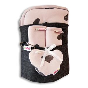 Εικόνα της Minene Κάλυμμα καροτσιού με επωμίδες Pink Print
