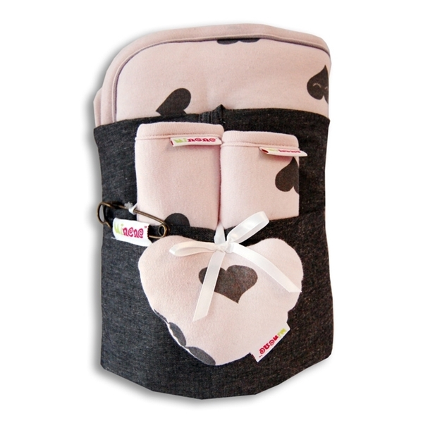 Picture of Minene Κάλυμμα καροτσιού με επωμίδες Pink Print