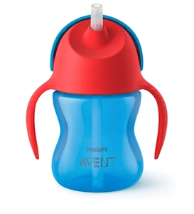 Picture of Philips Avent - Κύπελλο Με Καλαμάκι 200ml (Μπλε-Κόκκινο)
