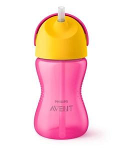 Εικόνα της Philips Avent - Κύπελλο Με Καλαμάκι 300ml (Ροζ-Κίτρινο)