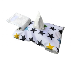 Picture of MyBags Θήκη Για Μωρομάντηλα White Stars