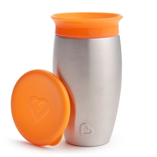 Picture of Munchkin Ανοιξείδωτο Ισοθερμικό Miracle 360° Sippy Cup 296ml Orange