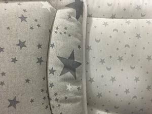 Εικόνα της Ωμέγα Bebe Πάντα Κούνιας Διπλής Όψης Grey-White Stars