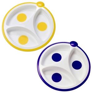 Εικόνα της Dr. Browns Πιάτο 3 Μερίδων Κίτρινο/Μπλε, 2τμχ