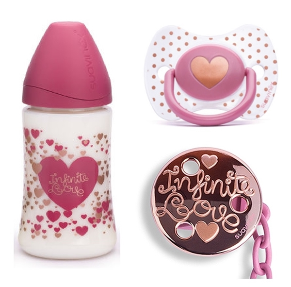 Picture of Suavinex Haute Couture Set Little Star Ροζ, Πλαστικό Μπιμπερό 270ml