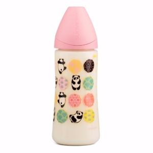 Picture of Suavinex Πλαστικό Μπιμπερό Pink Panda με Θηλή Σιλικόνης Anatomical 270 ml 0-6Μ