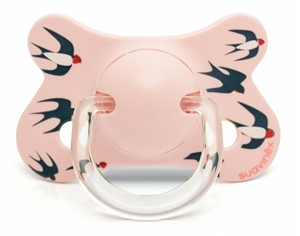 Picture of Suavinex Fusion Πιπίλα Σιλικόνης Pink Swallows 4-18M