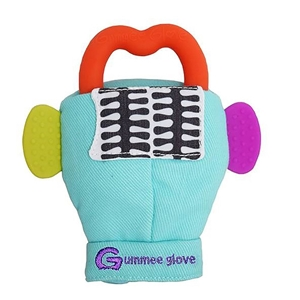 Εικόνα της Gummee Glove Γάντι οδοντοφυίας 0-6M Τυρκουάζ