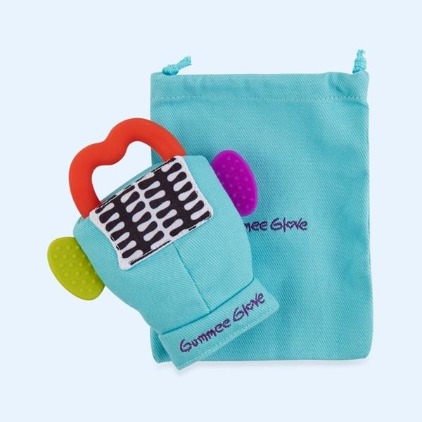 Picture of Gummee Glove Γάντι οδοντοφυίας 0-6M Τυρκουάζ