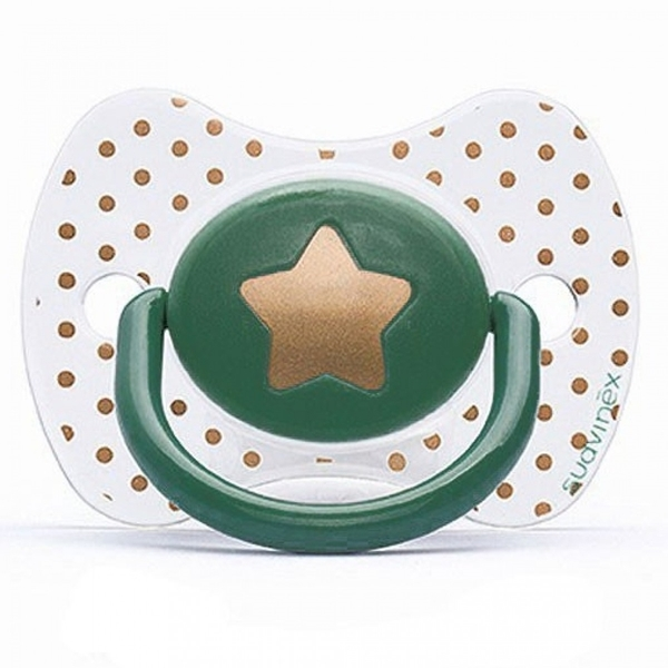 Picture of Suavinex Fusion Πιπίλα Σιλικόνης Haute Couture Green Star 0-4Μ