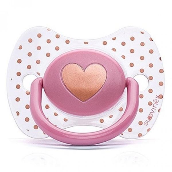Picture of Suavinex Fusion Πιπίλα Σιλικόνης Haute Couture Ροζ Καρδία 0-4Μ