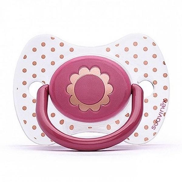 Picture of Suavinex Fusion Πιπίλα Σιλικόνης Haute Couture Flower 4Μ+