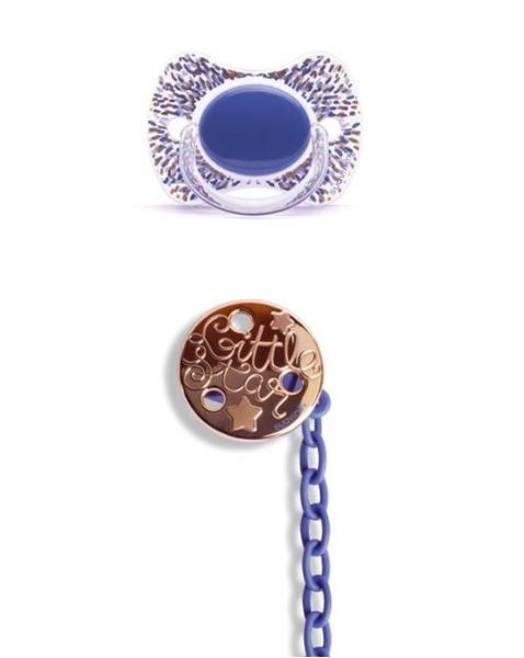 Picture of Suavinex Fusion Πιπίλα Σιλικόνης Haute Couture Blue & Κλιπ 4Μ+