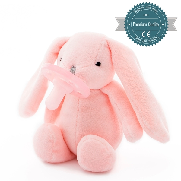 Picture of MinikOiOi Λούτρινο με Πιπίλα - Pink Sleep Buddy