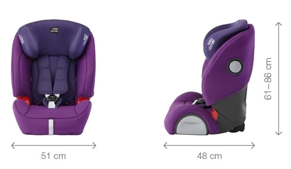 Picture of Britax Κάθισμα Αυτοκινήτου Evolva 1-2-3 SL Sict 9-36kg Moonlight Blue