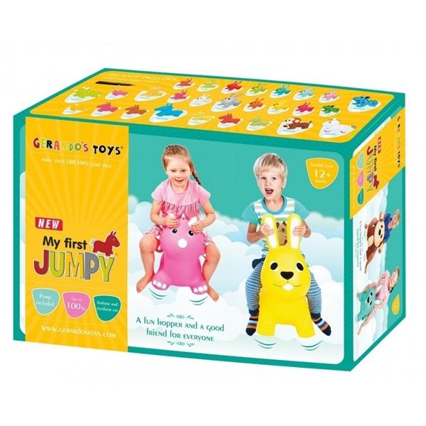 Picture of Gerardos Toys Φουσκωτό Χοπ Χοπ, Dark Pink Bunny