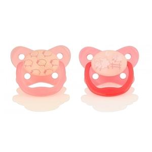 Εικόνα της Dr. Browns Πιπίλες Νυκτός Prevent Επίπεδο 1, 0-6 Μηνών (2 τεμ) Ροζ