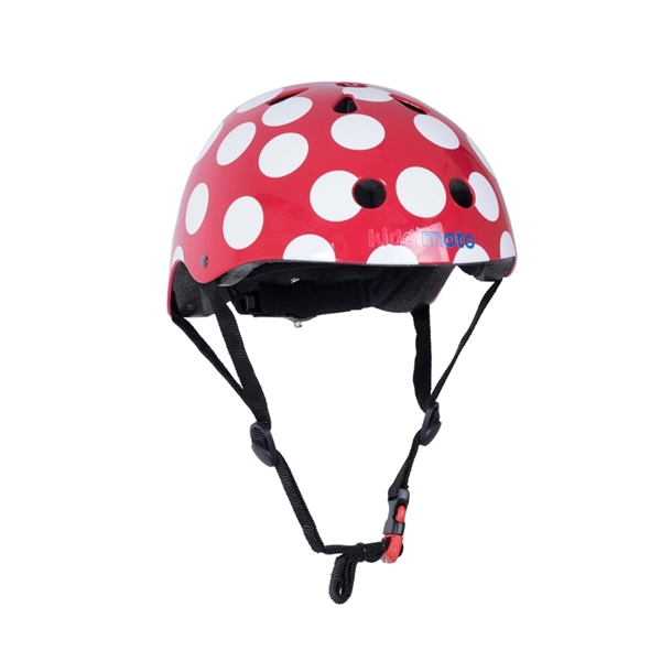 Picture of KiddiMoto Κράνος Red Dotty Small
